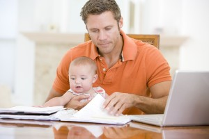 bigstock-Father-And-Baby-In-Dining-Room-4135869