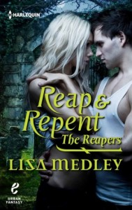 Reapers (good guys) battle demons (bad guys) in all three reaper series books.