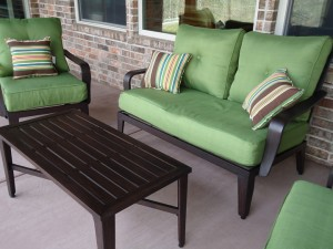 The throw pillows that came with the set are dinky and need to be replaced, but otherwise, we love our   new patio furniture.