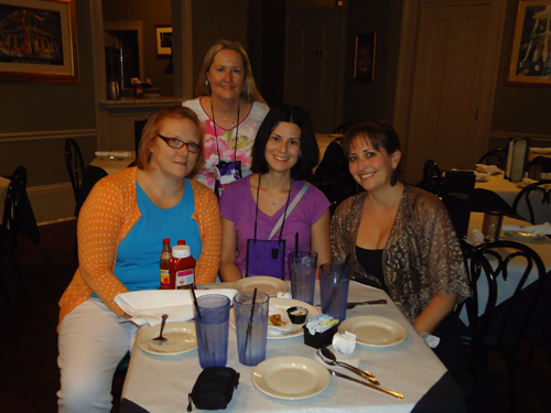 The  best part of RT was meeting (from left) Celeste Jones, Sue Lyndon and Alta Hensley.