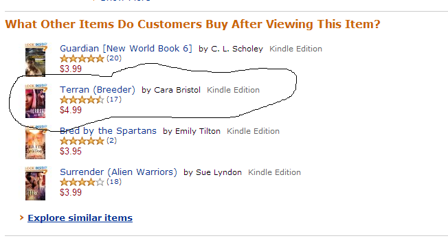 My book appears as a recommendation on another author's book.