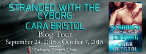 Stranded With The Cyborg Blog Tour Banner