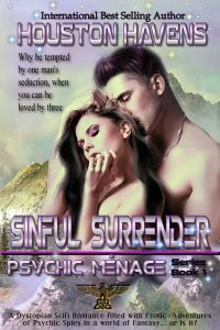 Houston Havens - Sinful Surrender (Psychic Menage #1) 1000x1500