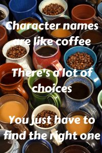 character name and coffee